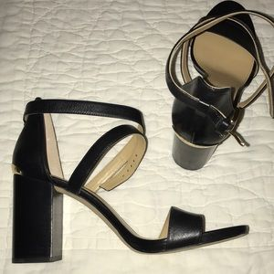 Black Michael Kors strappy heels